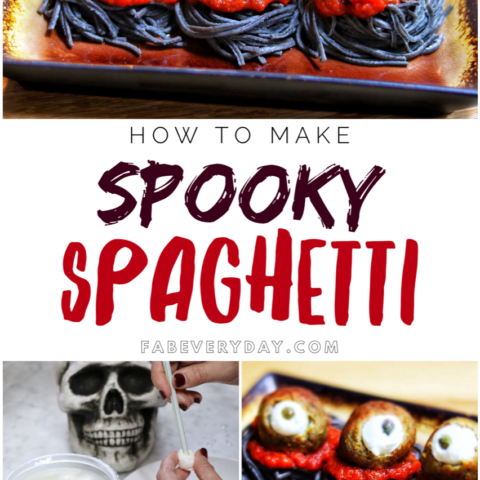 Easy Halloween food ideas: Spooky Spaghetti