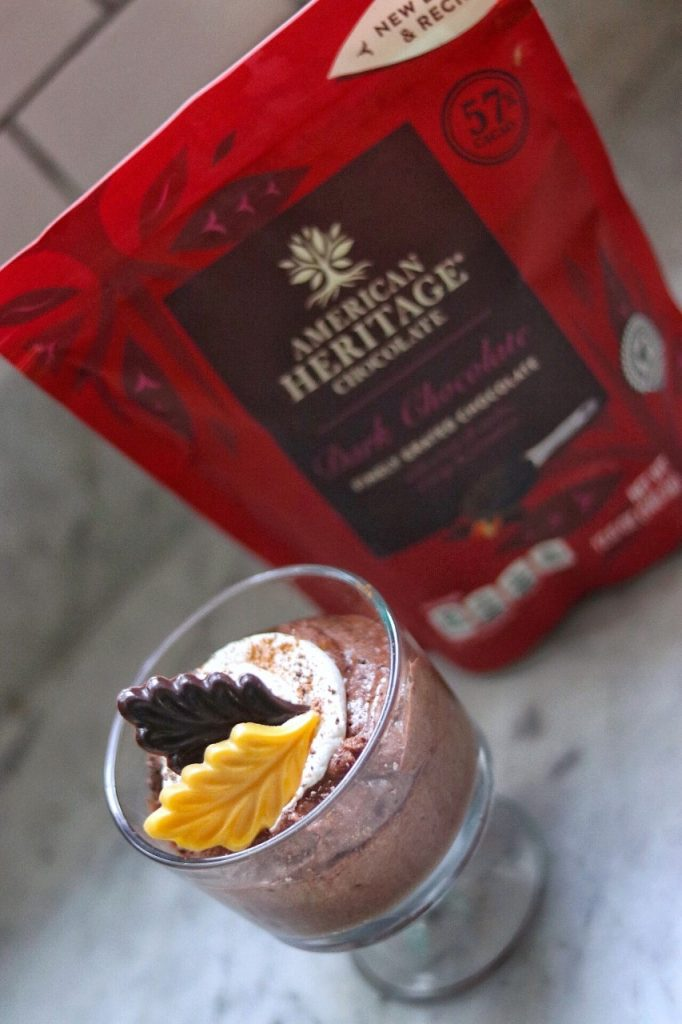 Easy fall dessert recipe ideas: Autumn Spice Dark Chocolate Mousse