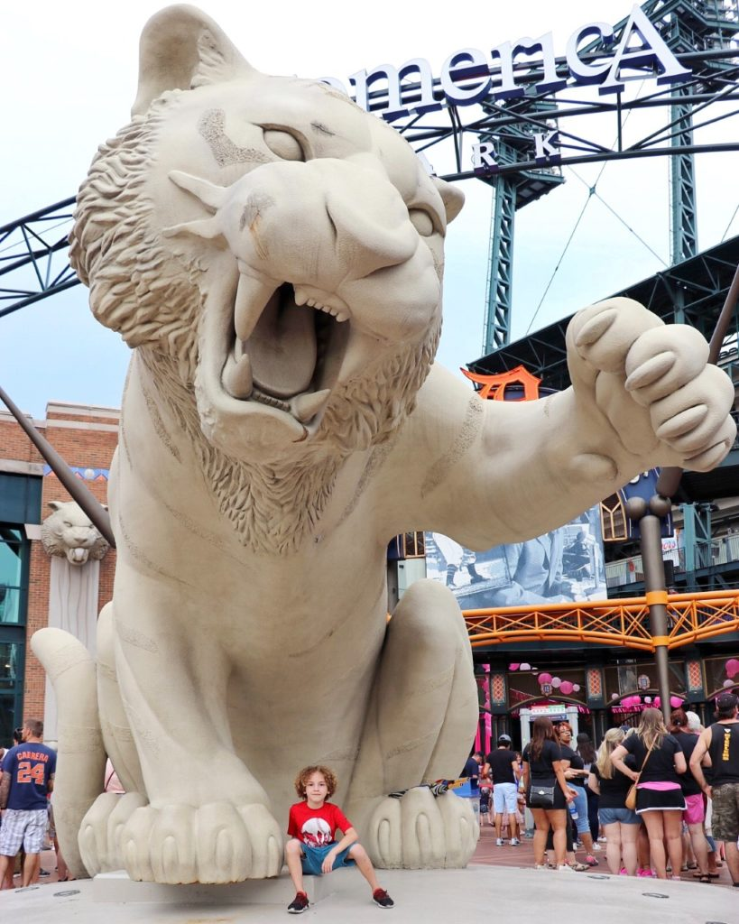 ultimate family baseball road trip through the midwest: detroit tigers game at comerica park