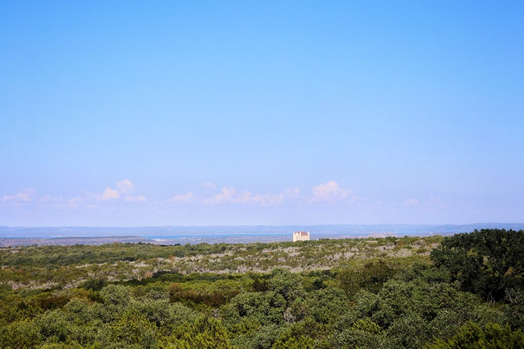 The view from the Civilian Conservation Corps Observation Tower at Longhorn Cavern State Park in Marble Falls, TX