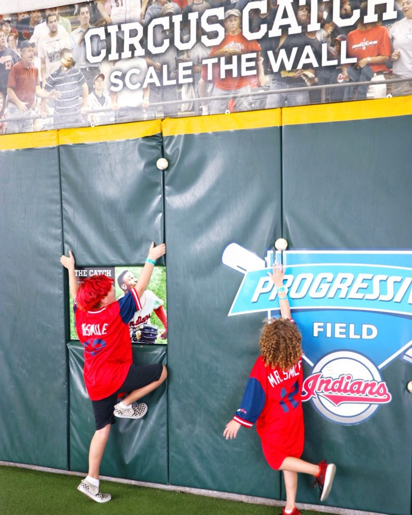 Tips for taking kids to Major League Baseball games: kids clubhouse at cleveland indians progressive field