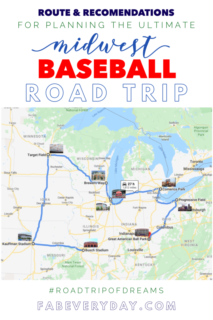 Route and recommendations for planning the ultimate Midwest baseball road trip