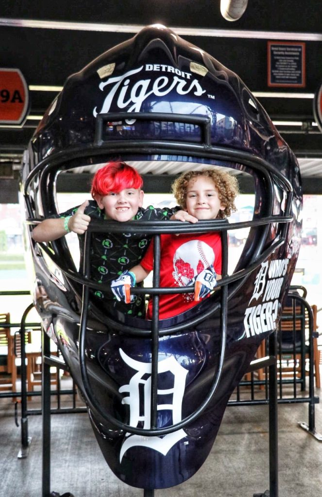 Tips for taking kids to Major League Baseball games: kid-friendly activities at detroit tigers comerica park
