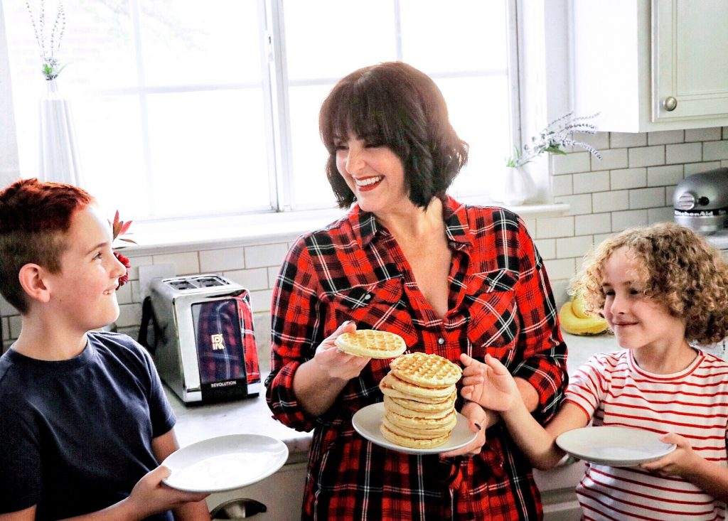 Fun, kid-friendly breakfast idea: Decorate-Your-Own Waffle Bar