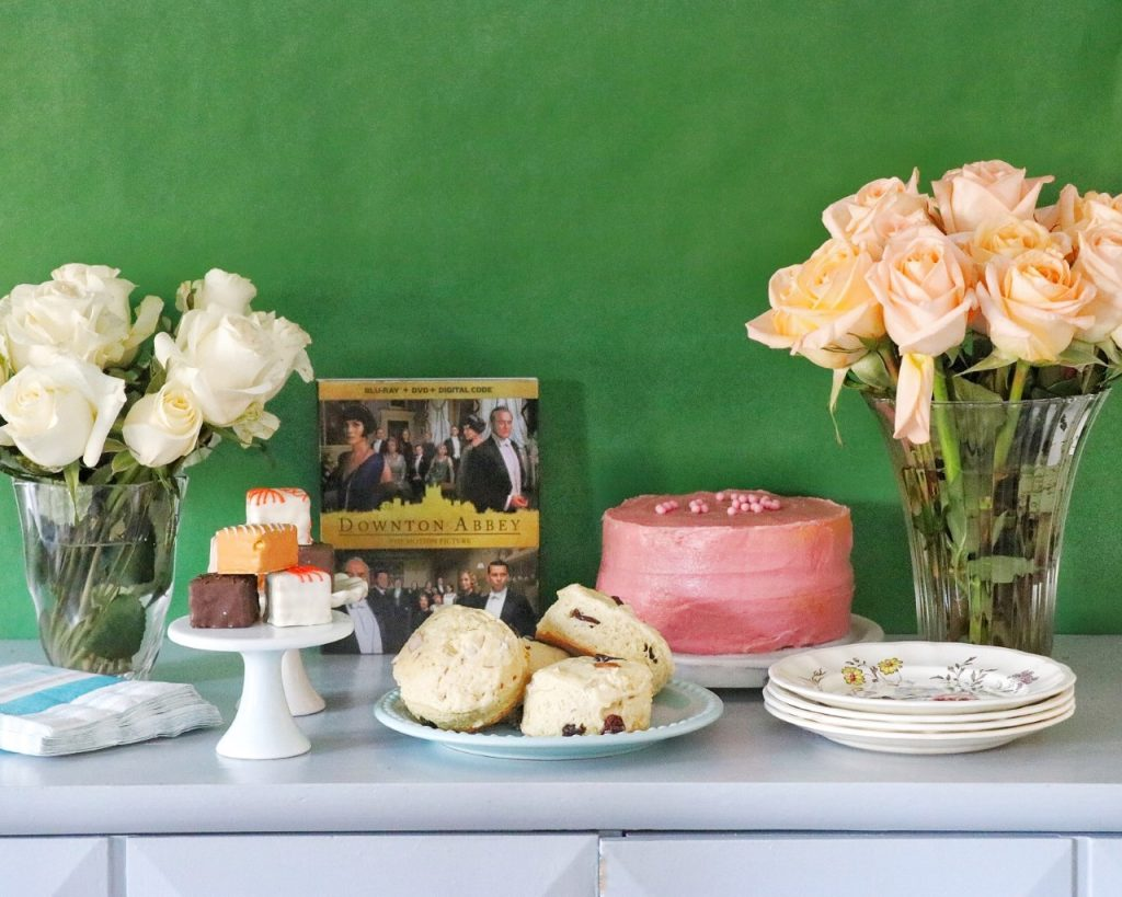 downton abbey themed tea party desserts and scones