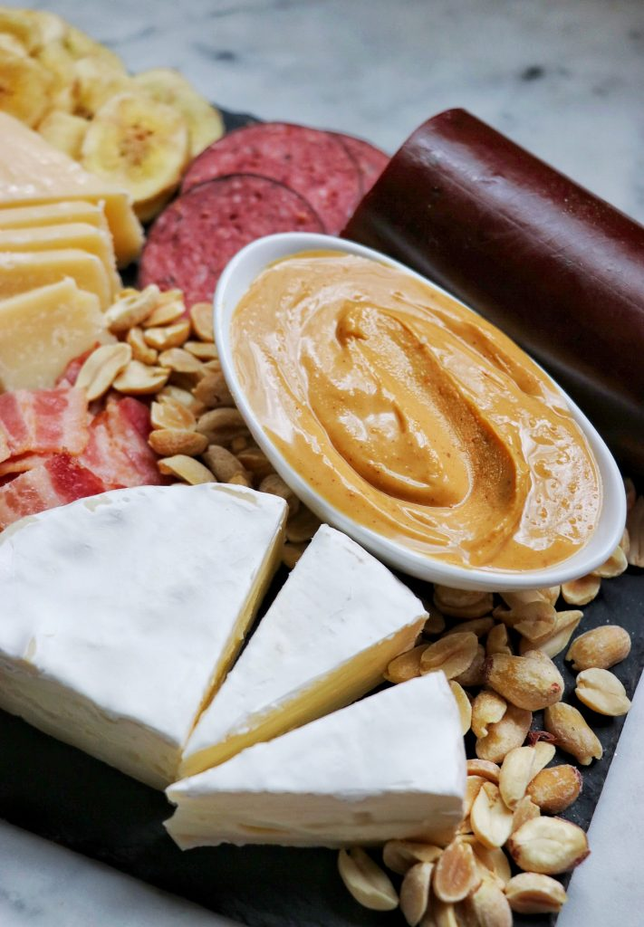 charcuterie board pairing - how to put together a peanut butter charcuterie board