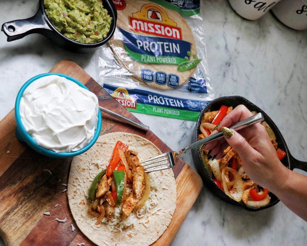 Easy, Family-Friendly Picnic Recipe: Chicken Fajita Protein Wraps