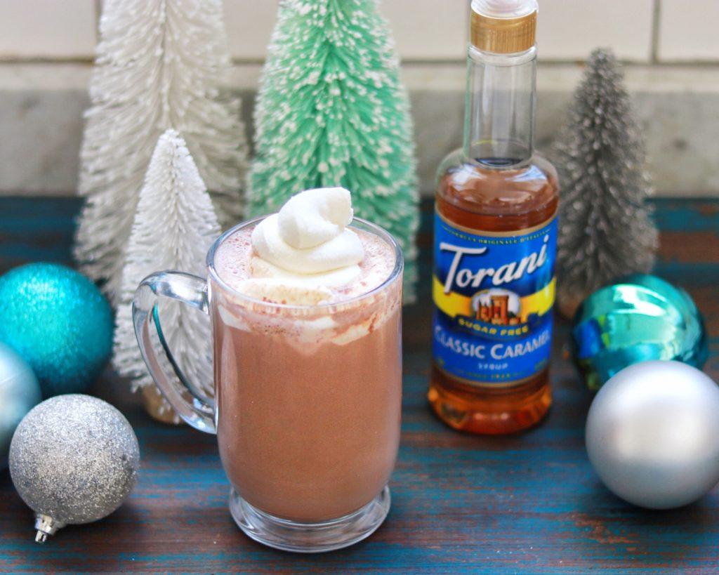 Sugar-Free Salted Caramel Hot Chocolate