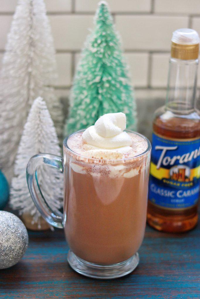 Keto drink recipe: Sugar-Free Salted Caramel Hot Chocolate