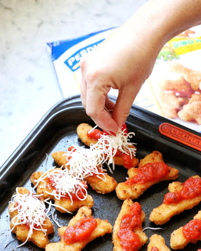 Family-Friendly Dino Nugget Parmesan recipe