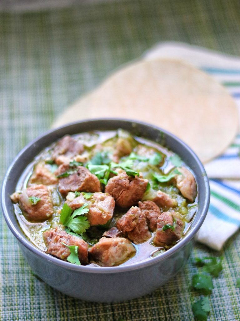 Instant Pot Chile Verde (green chile pork stew)