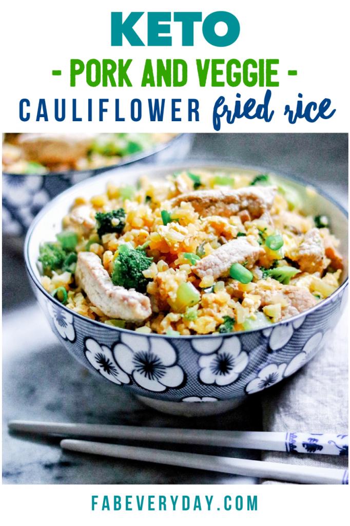 Keto Pork and Veggie Cauliflower Fried Rice recipe