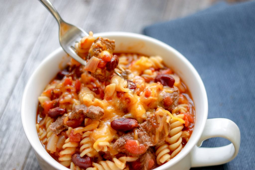 Hearty Instant Pot Beef and Bean Pasta recipe