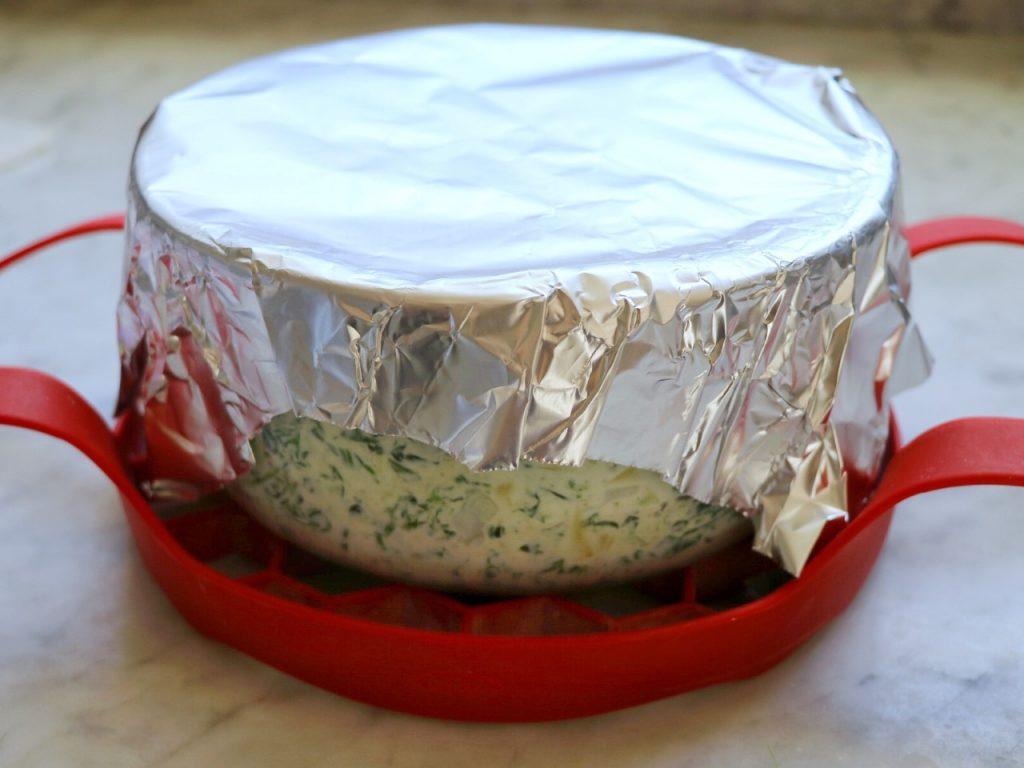 Instant Pot Feta, Spinach, and Artichoke Dip - pot-in-pot keto Instant Pot recipe